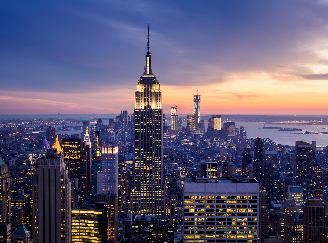 View of the Empire State Building in New York City. Enjoy hotels and luxury residences with the Marriott Family of brands.