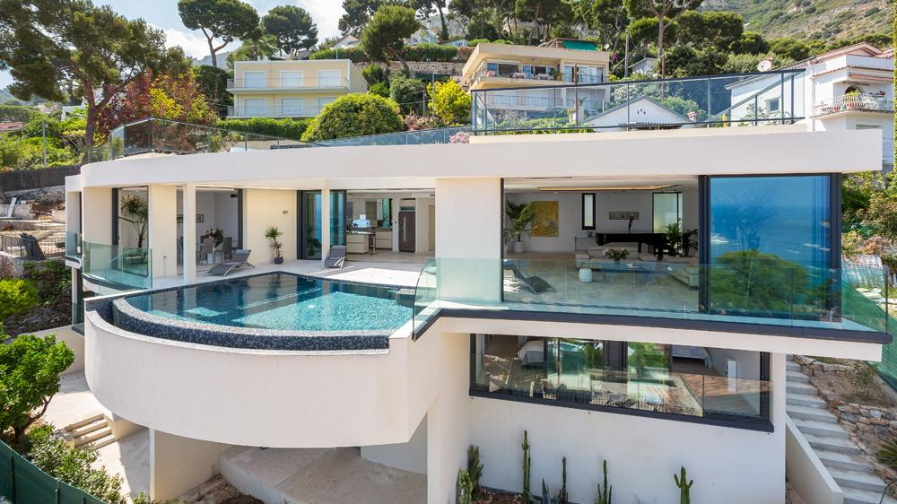 Villa Paradise overlooking the bay of Eze in Cote D'Azur & St. Tropez, France.